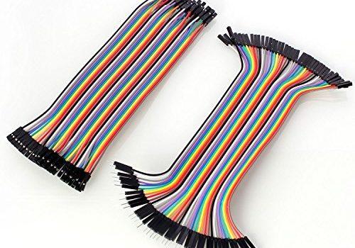 """Neuftech 40x 20cm """"female-female"""" """"male-female"""" jumper wire kabel Steckbrücken Drahtbrücken für Arduino Raspberry pi"""