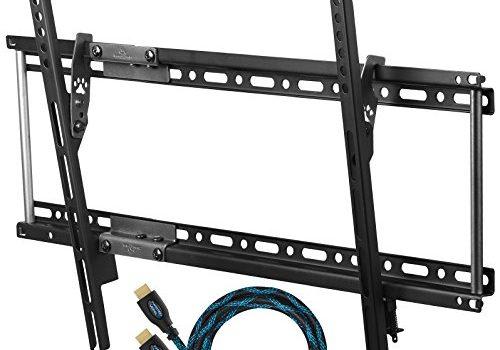 Cheetah Mounts APTMM2B TV Neigbar Wandhalterung für 20-65 Zoll LCD, LED Flachbildschirme Fernseher; VESA max. 600 x 400 und 75 KG. HDMI Kabel mit Ethernet 3 m. Magnetische 3 Achsen Wasserwaage