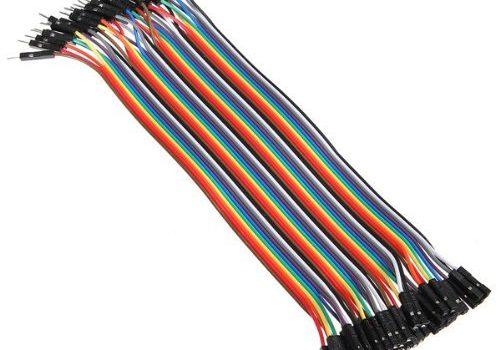 """Neuftech 40x 20cm """" male female """" Jumper Wire Kabel Drahtbrücken für Breadboard Arduino"""