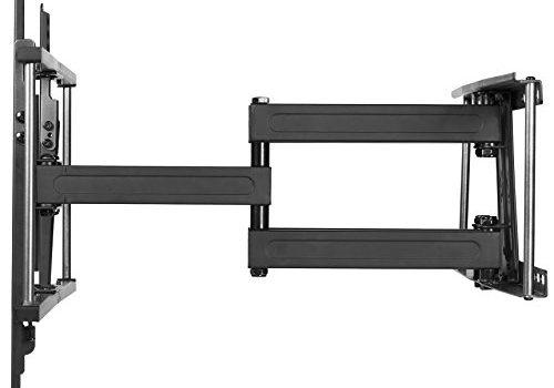 Cheetah Mounts APDAM2B TV Wandhalterung Schwenkbar für 32 – 65 Zoll LCD, LED, TV. Max. VESA 600 und Max kg 74. Ein 3 Meter Hochgeschwindigkeits HDMI Kabel mit Ethernet und Strapazierfähigem Gewebemantel und 15 cm Magnetische 3 Achsen Wasserwaage