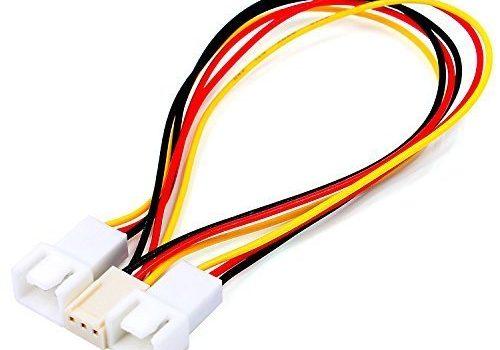 Neufteche® Lüfter Y- Adapterkabel Verteiler 3pin Buchse auf 2 x 3pin Stecker