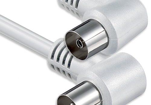 1aTTack Koaxial Anschluss-Kabel Winkel, 10m weiß