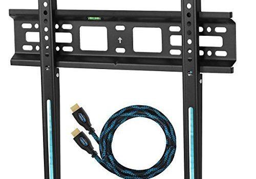 Cheetah Mounts APFMSB TV Wandhalterung für 20-55 Zoll LCD, LED Fernseher; Maximal VESA max. 420 x 400 und kg 52.   Ein HDMI Kabel mit Ethernet 3 m. Ein Magnetische 3 Achsen Wasserwaage.