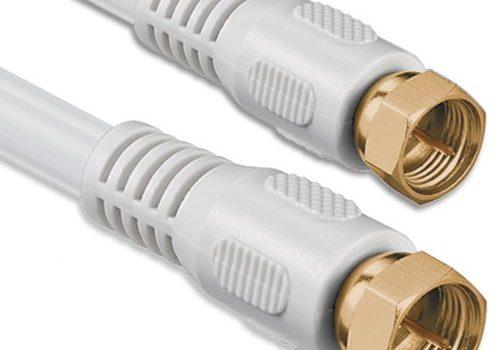 1aTTack Koaxial Anschluss Kabel Antennenkabel Sat Kabel Anschlusskabel F-Stecker Koaxialstecker auf Koaxialkupplung doppelt geschirmt/Dreifach geschirmt/4fach geschirmt/75dB/85dB/100dB/110dB/120dB/125dB SAT weiß F-F gold 85db 5,0 Meter
