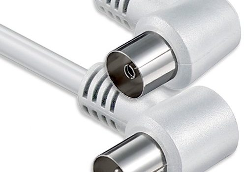 1aTTack Koaxial Anschluss Kabel Antennenkabel Sat Kabel Anschlusskabel F-Stecker Koaxialstecker auf Koaxialkupplung doppelt geschirmt/Dreifach geschirmt/4fach geschirmt/75dB/85dB/100dB/110dB/120dB/125dB Koax weiss St-Ku 2xWinkel 75db 1,5 Meter