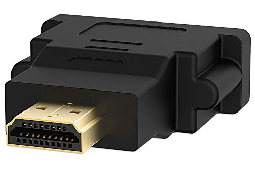 HDMI auf DVI, Rankie 2-Stück Vergoldet HDMI zu DVI-I Male zu Female Kabel HDTV Adapter Konverter