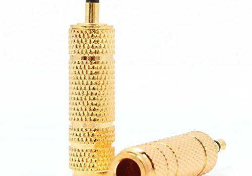 Neuftech 2 * 3,5 mm Stecker auf 6,5 mm Stereo-Konverter Audio-Buchse für Audio-Kopfhörer, Mikrofon – Gold