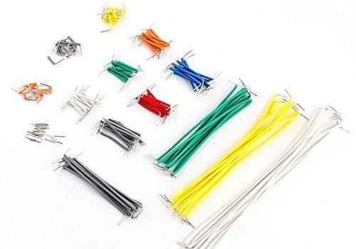 Neuftech 140 teilig Set male-male Jumper Wire Kabel Steckbrücken für Breadboard Steckplatine