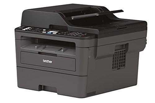 Brother MFC-L2710DW Kompaktes 4-in-1 S/W-Multifunktionsgerät 30 Seiten/Min., Drucken, Scannen, Kopieren, Faxen, A4, echte 1.200×1.200 dpi, Duplexdruck, 250 Blatt Papierkassette, USB 2.0, LAN, WLAN