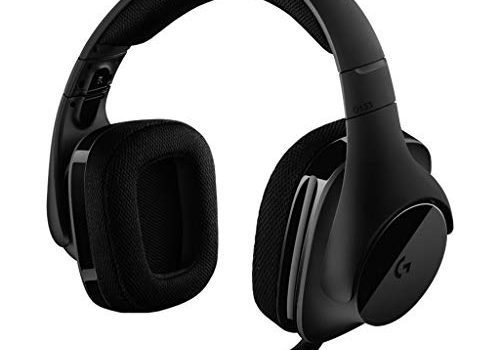 Logitech G533 Gaming Headset kabelloser DTS 7.1 Surround Sound schwarz