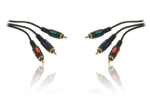 YUV- / RGB/YPbPr- / Cinch-Videokabel dreiteilig, vergoldet, Stecker zu Stecker, 1 m von CDL Micro