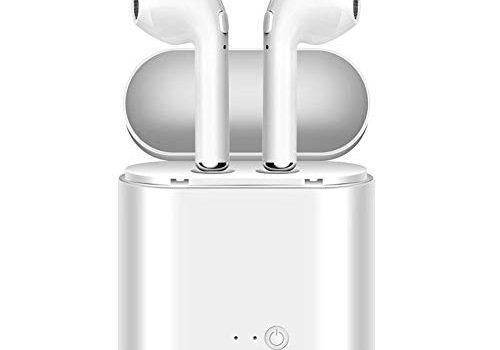 Bluetooth Kopfhörer 4.2 Kabellose In-Ear-Ohrhörer mit Tragbarer Ladekästchen und Mikrofon für Apple iPhone, iPad, Samsung, und Android Geräte
