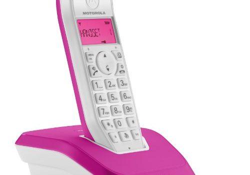 Motorola Startac S1201 DECT Schnurlostelefon Analog, Freisprechen, ECO-Modus, Displaybleuchtung auf Gerätefarbe abgestimmt pink