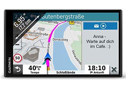 extragroßes Touch-Display, 3D-Navigationskarten und Live-Traffic via DAB+ – Garmin DriveSmart 65 MT-D EU Navi