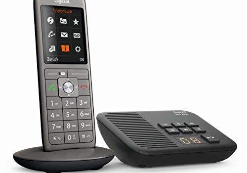 mit Farbdisplay / Grosse Tasten – 2.0 – Telefon – Design Telefon / Anrufbeantworter Box 200A/ Freisprechen / Analog Telefon, anthrazit – Gigaset CL660A – Schnurlostelefon / Mobilteil