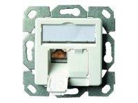 Telegärtner Datenanschlussdose Cat6A 2-fach 2xRJ45 J00020A0500 AMJ45 8/8 UP/50 alpinweiß 5 V, Weiß