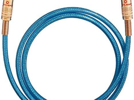Oehlbach NF 113 DI 100   Digitales Audio-Cinchkabel   Hochwertiges S/PDIF Koaxialkabel, Mehrfach Schirmung, 75 Ohm   1 m – blau