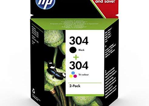 HP 304 Multipack Original Druckerpatronen Schwarz, Farbe für HP DeskJet 2630, 3720, 3720, 3720, 3730, 3735, 3750, 3760; HP ENVY 5020, 5030, 5032