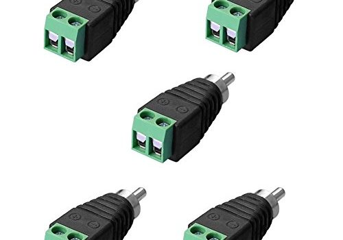 SIENOC Adapter Terminalblock > Cinch Stecker RCA Adapter DC Block Schraubanschluss 2-Pin
