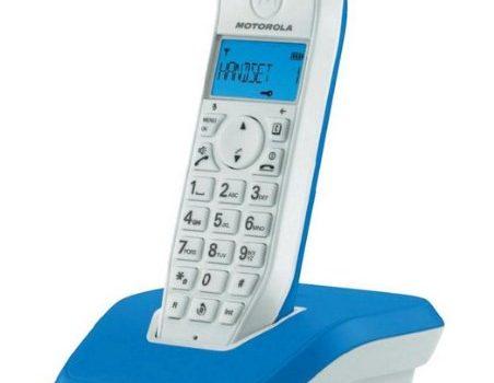 Motorola Startac S1201 DECT Schnurlostelefon Analog, Freisprechen, ECO-Modus, Displaybleuchtung auf Gerätefarbe abgestimmt blau