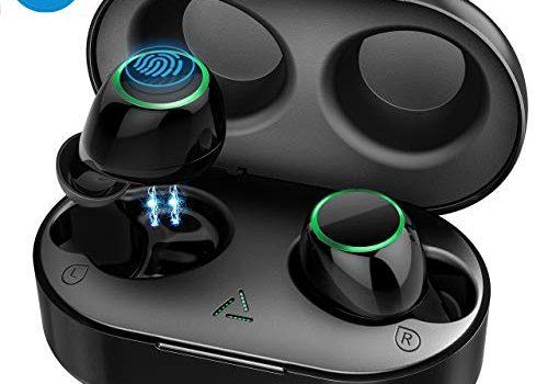 Mpow Bluetooth Kopfhörer in Ear Sport Kabellos Ohrhörer Wirelss Earbuds Touch-Contral / IPX7 Wasserdicht / 2 Modes/BT 5.0/21 Std Spielzeit mit Ladebox, Mikrofon für iPhone Samsung Huawei usw.