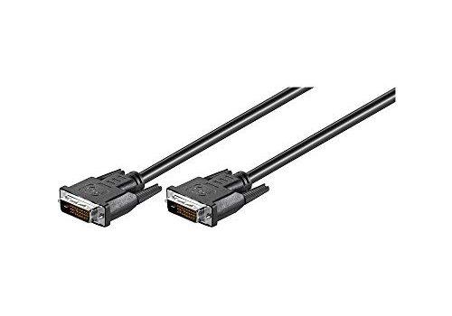 Wentronic DVI-D Kabel Dual Link DVI-D 24+1 Stecker auf DVI-D 24+1 Stecker 1,8 m schwarz