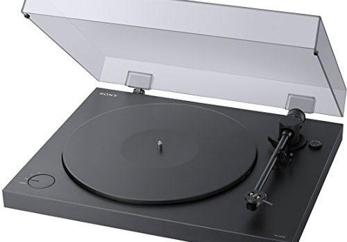 Sony PS-HX500 Plattenspieler High-Resolution-Audio-Ripping-Funktion, Aufnahme Double-DSD Format, USB, A/D Wandler Schwarz
