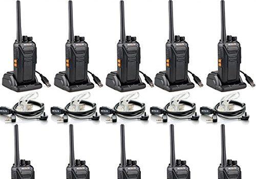 Retevis RT27 Funkgerät mit Headset Lizenzfrei PMR Funkgeräte Set UHF Walkie Talkie mit USB Ladeschale 16 Kanäle VOX Monitor Notanruf mit Tastenkombination 10 Stk. Walkie Talkies mit Headset10 Stk.