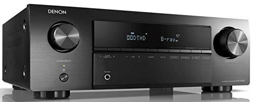 Denon HEOS AVR 5.1 AV-Receiver, Bluetooth, Amazon Music, WLAN, HDR, HDCP 2.2, ARC, Dolby TrueHD, Dolby Digital und DTS-HD Master Audio, Aluminium-Gehäuse gun metal silber