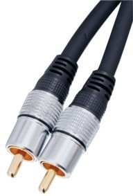 Digital Koaxial Kabel mit vergoldeten Cinch Steckern Länge: 20,0 Meter