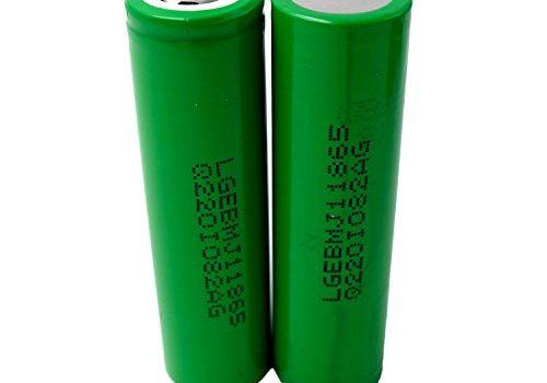 2X LG INR18650-MJ1 Akku 3500mAh 3,7v Lithium-Ionen Batterie – Ideal für Sub-Ohm Dampfer E-Zigarette Flat Top Flachpol, Menge: 2 Stück