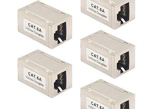 VCE CAT6A Ethernet Kupplung LAN Kabelverbinder POE für Verlängerung Ethernet Kabel Modular geschirmte 5 Stück
