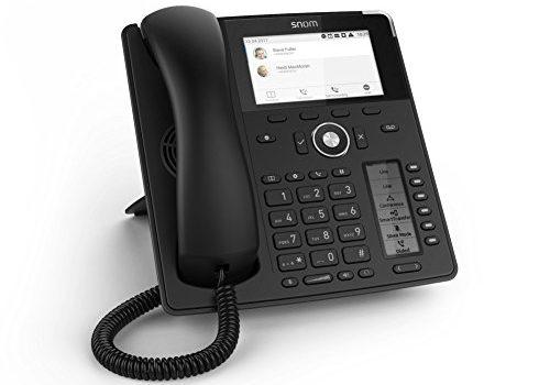 Snom Global Desk Telephone D785 6 24 Configurable Self-labeling Multicolor LED Keys, High-resolution Colour Display Black