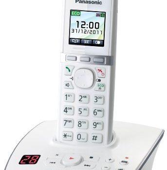 Panasonic KX-TG8061GW Telefon schnurlos mit Anrufbeantworter 1 Mobilteil weiß