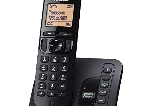 Panasonic KX-TGC220GB Schnurlostelefon mit AB KX-TGC220 schwarz