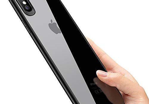 phixilin iPhone XS Max Handyhülle Crystal Schutzhülle iPhone XS Max Silikon Hülle Ultra Dünn Stoßfest Anti-Scratch TPU Bumper Case für iPhone XS Max Case Cover – Jet Schwarz