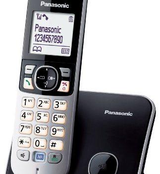 Panasonic KX-TG6811GB DECT-Schnurlostelefon 4,6 cm 1,8 Zoll Grafik-Display schwarz