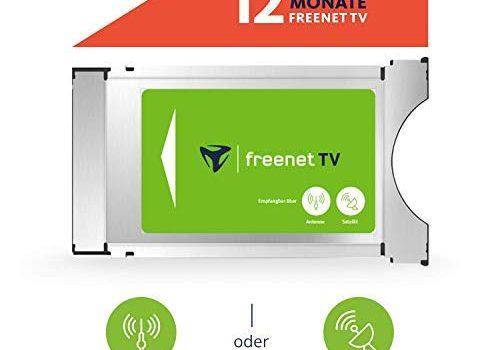 freenet TV CI+ Modul inkl. 12 Monate freenet für Antenne DVB-T2 HD & Satellit DVB-S
