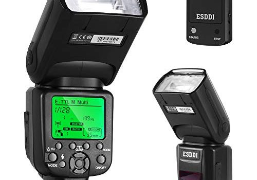 ESDDI Canon Blitzgerät, 1/8000 HSS Wireless Flash Speedlite GN58 2.4G Funk Master Slave für Canon, Professional Blitz Kit mit Wireless Flash Trigger