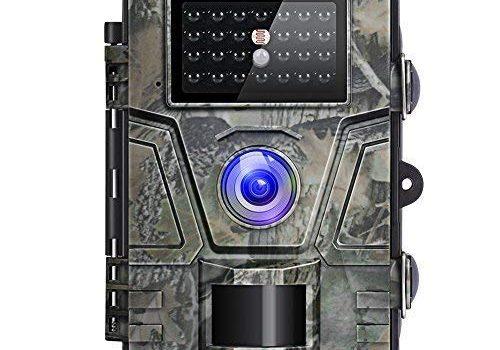 Victure Wildkamera Nachtsicht Bewegungsmelder Jagdkamera 12MP 1080P 2.4″ LCD Wasserdicht Wildtierkamera für Überwachung