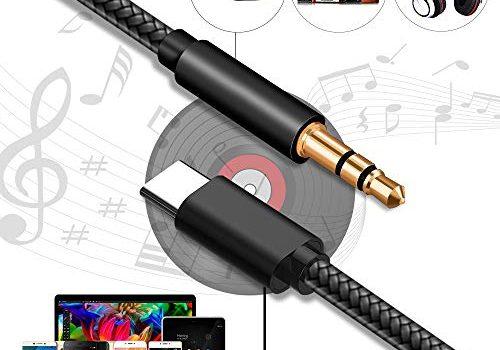 USB C Klinke Kabel,Chengtao Auto Aux Kabel 3.5mm Audio Kabel/Kopfhörerkabel 1m USB C zu Aux Adapter für Heim/KFZ Stereoanlagen, Smartphones, MP3 Player,Lautsprecher