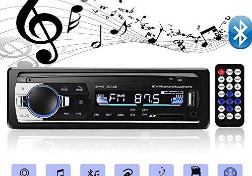 Andven Autoradio mit Bluetooth Freisprecheinrichtung, Digital Media-Receiver, 4X60W Auto Radio 1 Din, USB/ SD/ AUX/ MP3-Player Receiver mit Fernbedienung
