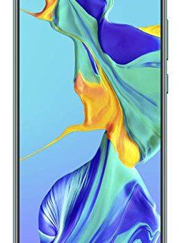 HUAWEI P30 Dual-SIM Smartphone Bundle 6,47 Zoll, 128 GB ROM, 6 GB RAM, Android 9.0 Aurora + USB-Adapter Exklusiv bei Amazon – DE Version