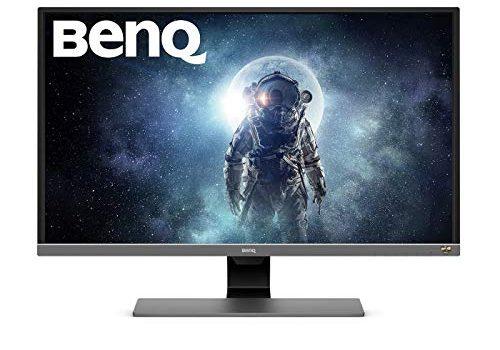 BenQ EW3270U 80,01 cm 31,5 Zoll Monitor 4K UHD 3840 X 2160 Pixel, HDR10, AMD FreeSync, Brightness Intelligence Plus, USB-Typ C grau