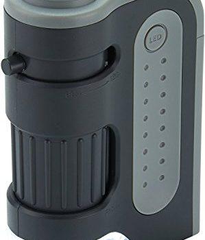 Carson Extrem leistungsstarkes Taschenmikroskop 60-120x MicroBrite Plus mit LED-Beleuchtung schwarz