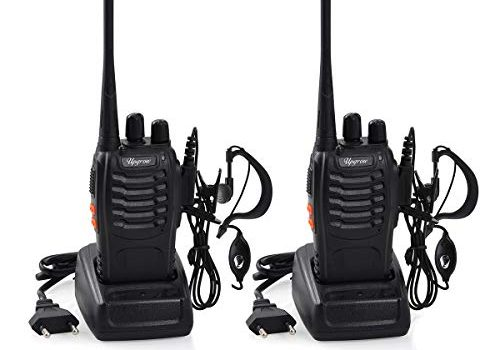 Upgrow 2X Funkgeräte Set Walkie Talkies Funksprechgeräte 16 Kanäle 3KM Reichweite CTCSS/DCS 400-470MHz Radio Handfunkgerät Mit Akkus und Ladegerät 2* Funkgeräte+ Headset