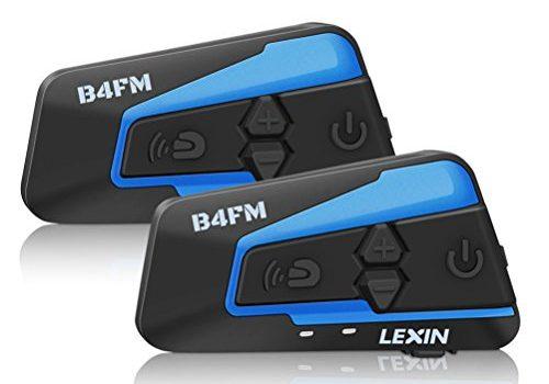 LEXIN B4FM 2X Pro Motorradhelm Bluetooth Headset, Motorrad Intercom Geräuschreduzierung, Bluetooth-Kommunikation System für Motorräder, Motorrad Kommunikationssystem mit FM