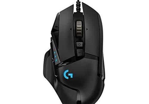 Logitech G502 HERO Gaming-Maus mit HERO Sensor, RGB, 16.000 DPI, 11 programmierbare Tasten, Laptop- und PC-Computermaus, 5 anpassbare Gewichte, Balance-Tuning, Deutsche-Verpackung schwarz