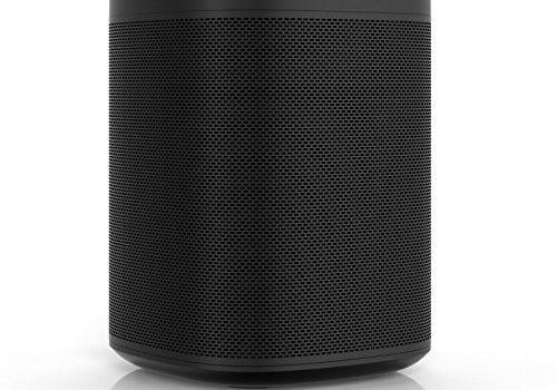 Sonos One Smart Speaker, schwarz – Intelligenter WLAN Lautsprecher mit Alexa Sprachsteuerung & AirPlay – Multiroom Speaker für unbegrenztes Musikstreaming