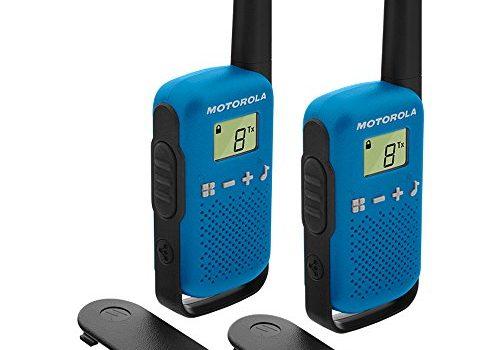 Motorola Talkabout T42 PMR-Funkgeräte 2er Set, PMR446, 16 Kanäle, Reichweite 4 km blau